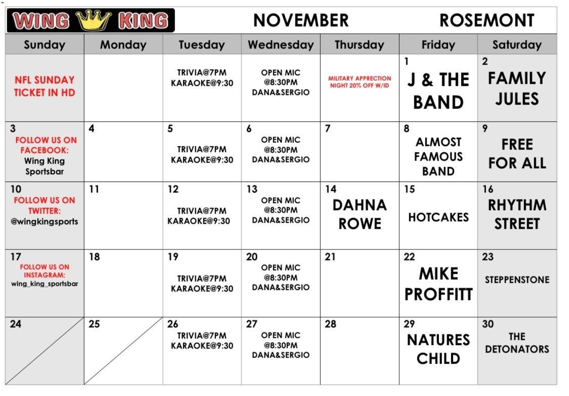November Rosemont